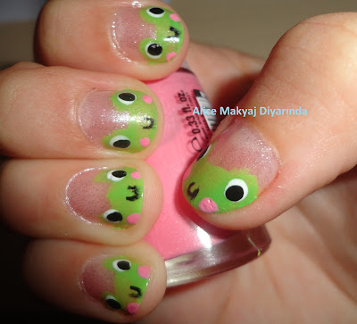 Kurbağa Nail Art