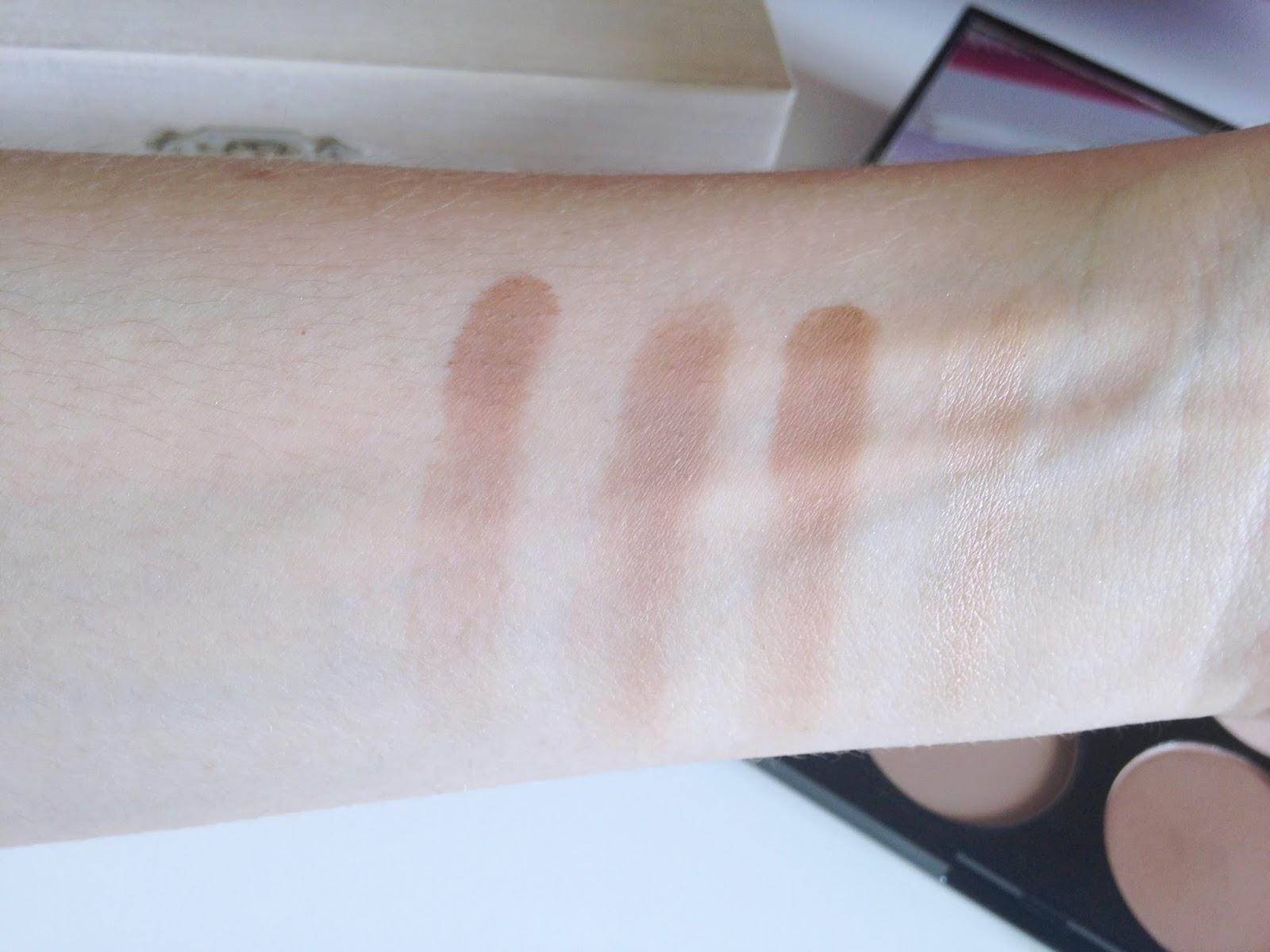 Makeup Revolution Ultra Contour Palette Bronzer Swatches