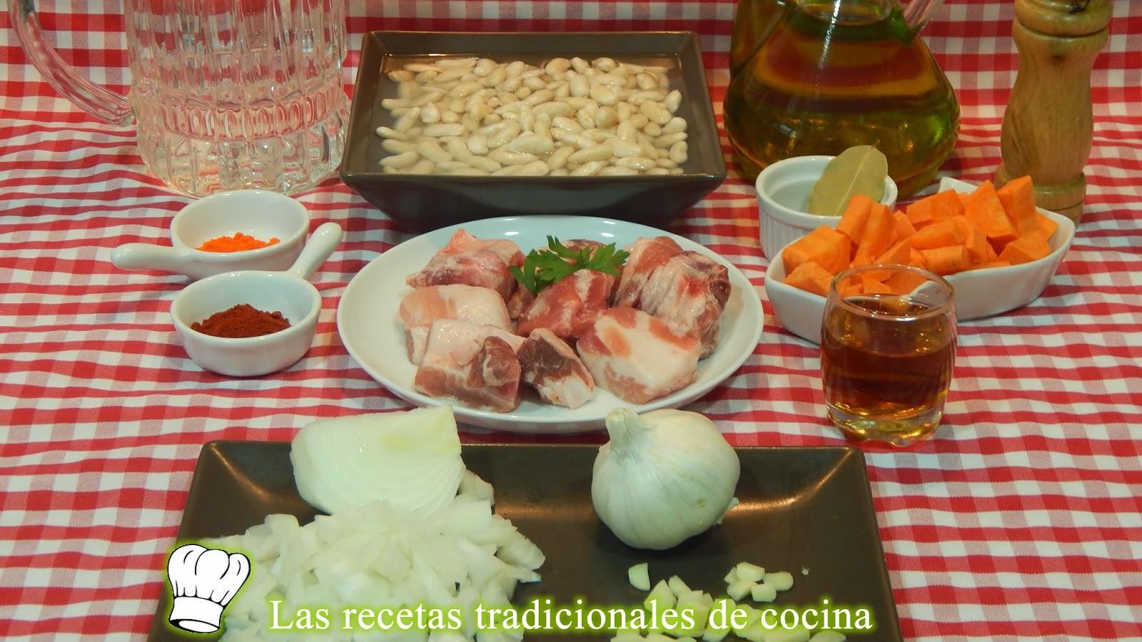 Receta de alubias blancas con costilla de cerdo