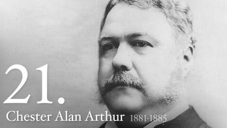 CHESTER ALAN ARTHUR 1881-1885
