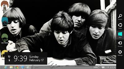 The Beatles Windows 8 Theme