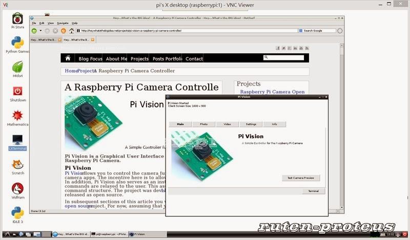 2014-01-07-Wheezy-Raspbian, Pi Vision GUI