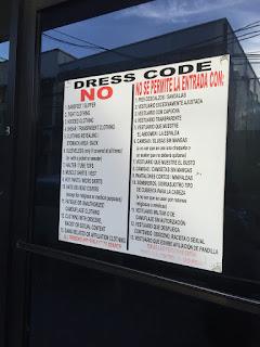 dress code sign