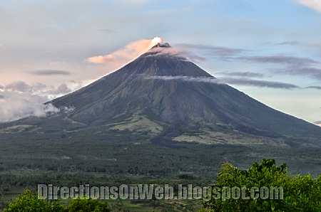 mt mayon is nearer in lignon hill nature park