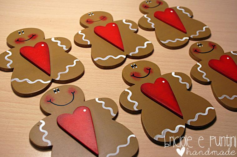 Briciole e puntini laboratorio creativo handmade - Decorazioni natalizie in legno ...