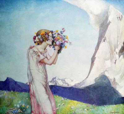 Frampton lady painting