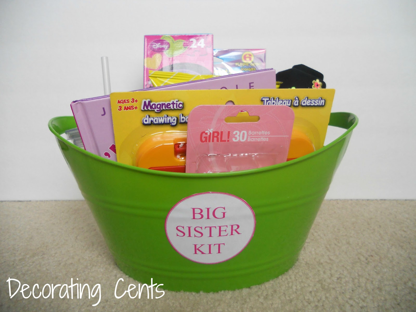 Gift Ideas For Big Sister At Baby Shower Part - 20: Decorating Cents - Blogger