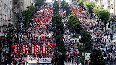 Manifestación del 29-M en Vigo, 2012, huelga general