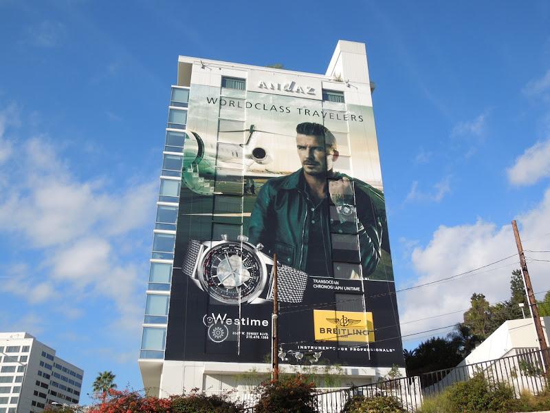 David Beckham Breitling watch billboard