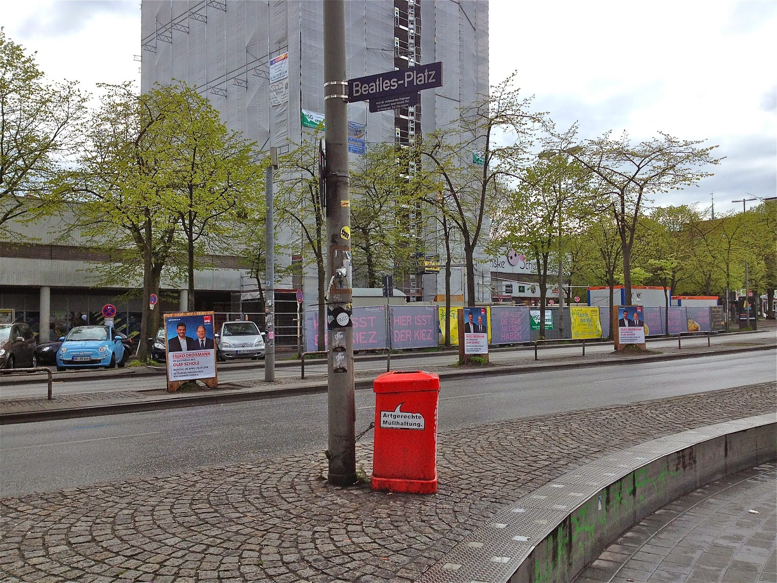 Picture of Beatles Platz in St Pauli, Hamburg.