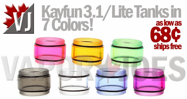 Colored Tanks for Kayfun 3.1 or Kayfun Lite