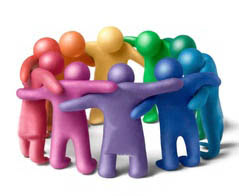 imagen de grupo de personas en esfuerzo común