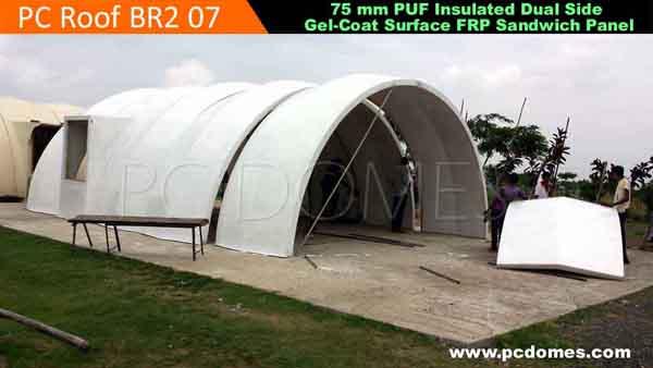 Car Fiberglass Dome Shelter : Frp domes military shelter