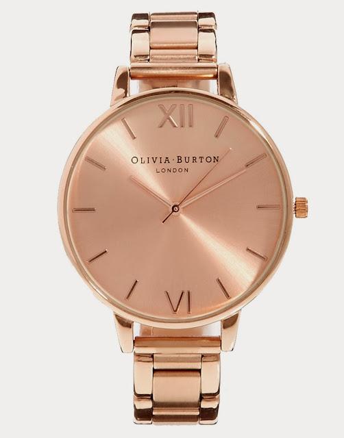 olivia burton watch, rose gold watch