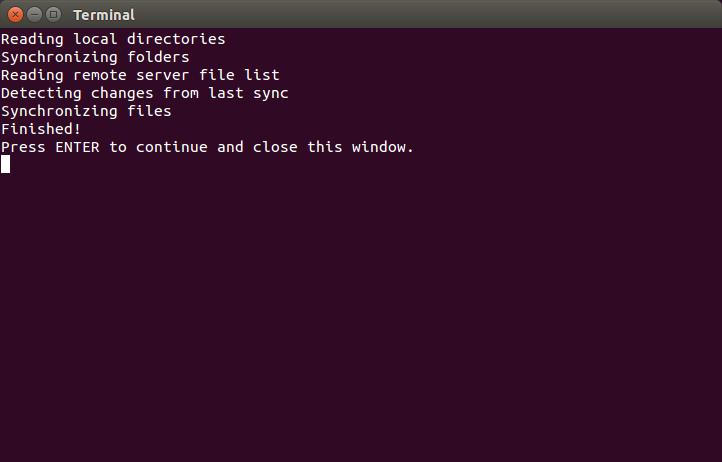Grive console output screenshot