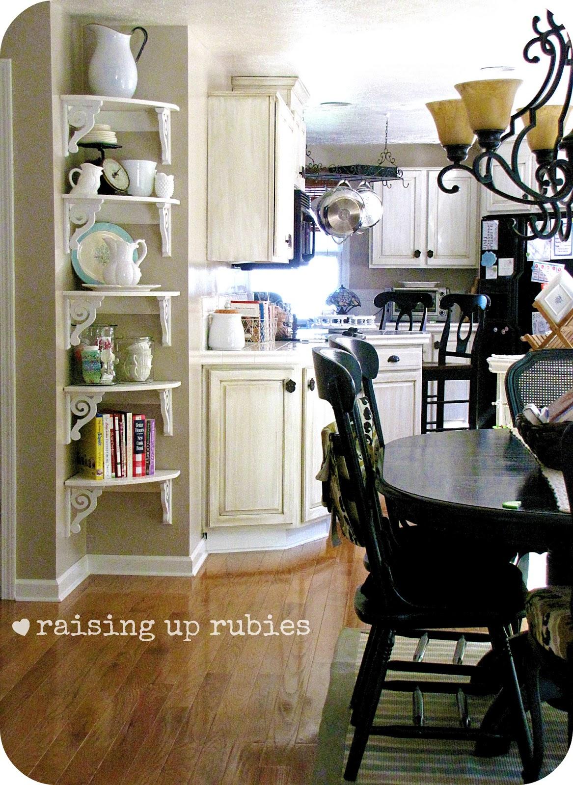 Vintage Kitchen Corner Shelves