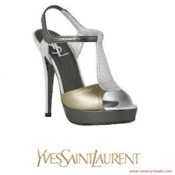 Princess Victoria Style Yves Saint Laurent Sandals and DAGMAR Deborah Dress