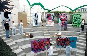 Graffiti faz a ponte entre professores e alunos da rede pública