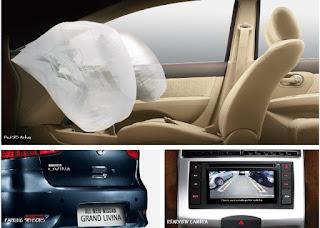 Penerapan berbagai fitur seperti Dual SRS Airbag adalah bukti kepedulian Nissan kepada pengguna mobil Grand Livina.