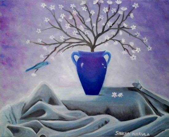 The Celestial Vase, painting by Shikha Narula (part of her portfolio on www.indiaart.com)