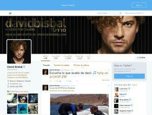David Bisbal en Twitter
