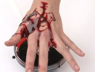 Experimentos Caseros sangre falsa mano