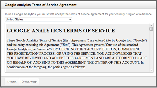 Google-Analytics-Terms-of-Service-form