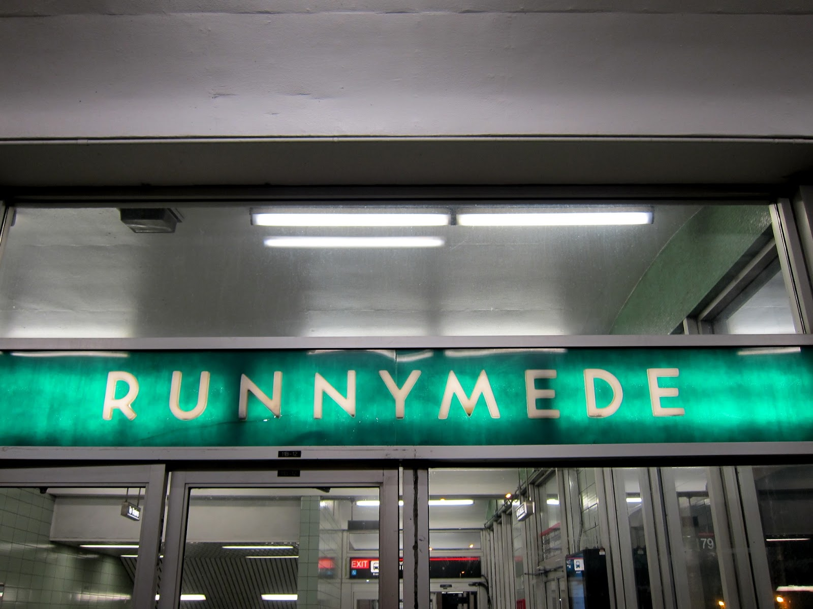Entrance signage for Runnymede station (Kennedy Avenue end)