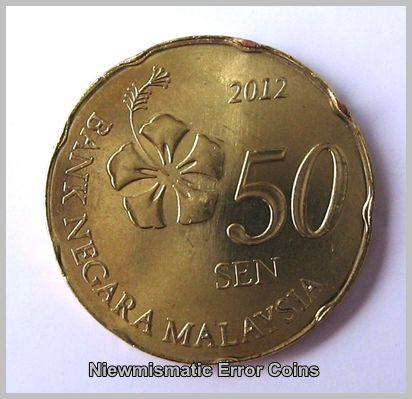 50 Cents with Finned Rim Errors