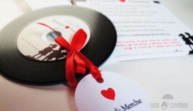 invitación de boda de S&F Gota Creativa