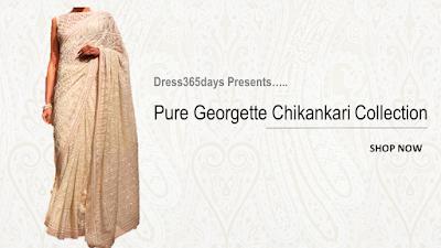 Pure Georgette Suit lengths Sarees