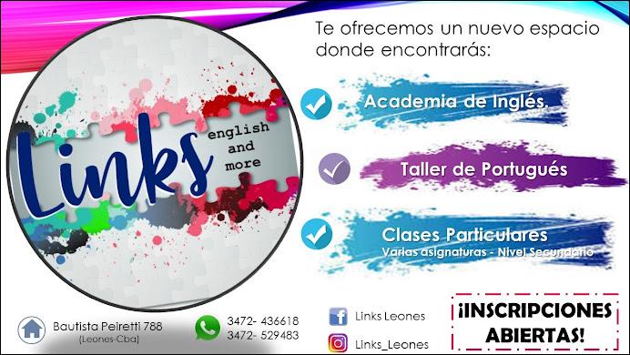 ESPACIO PUBLICITARIO: LINK LEONES (ACADEMIA DE INGLES)