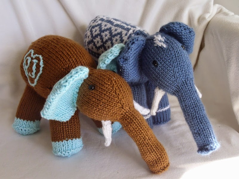 Stana\'s Critters Etc.: Knitting Pattern for Elmer, the Elephant and ...
