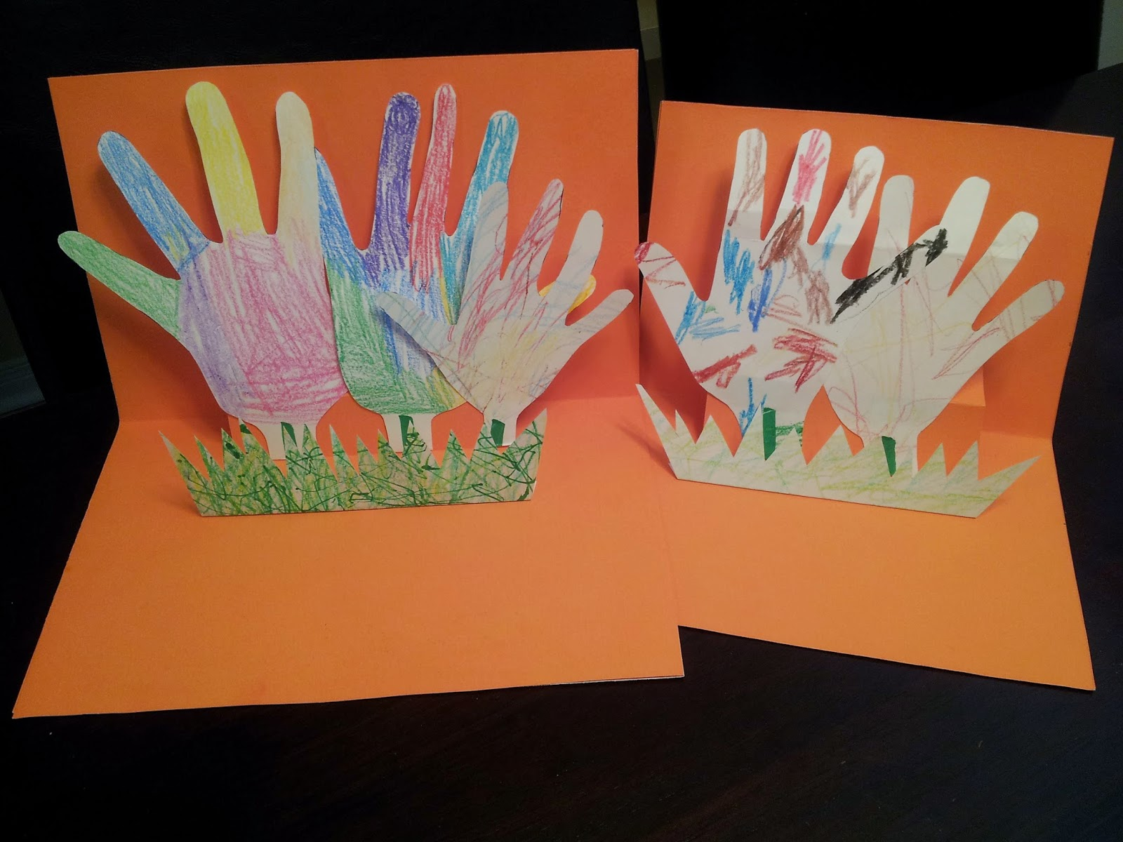 Pop-up card craft, handprint craft, kids craft