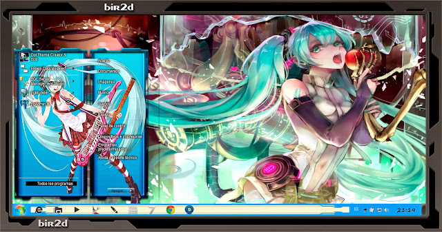 Hatsune Miku v3 [ Theme Windows 7 ] 1