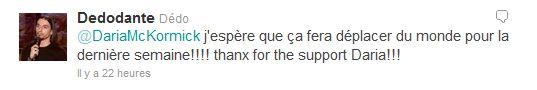 Dédo, Prince des Ténèbres sur Twitter