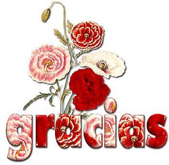 gifs  de gracias en flores