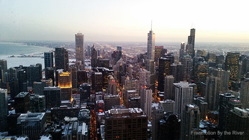 View of Chicago from 360 Chicago