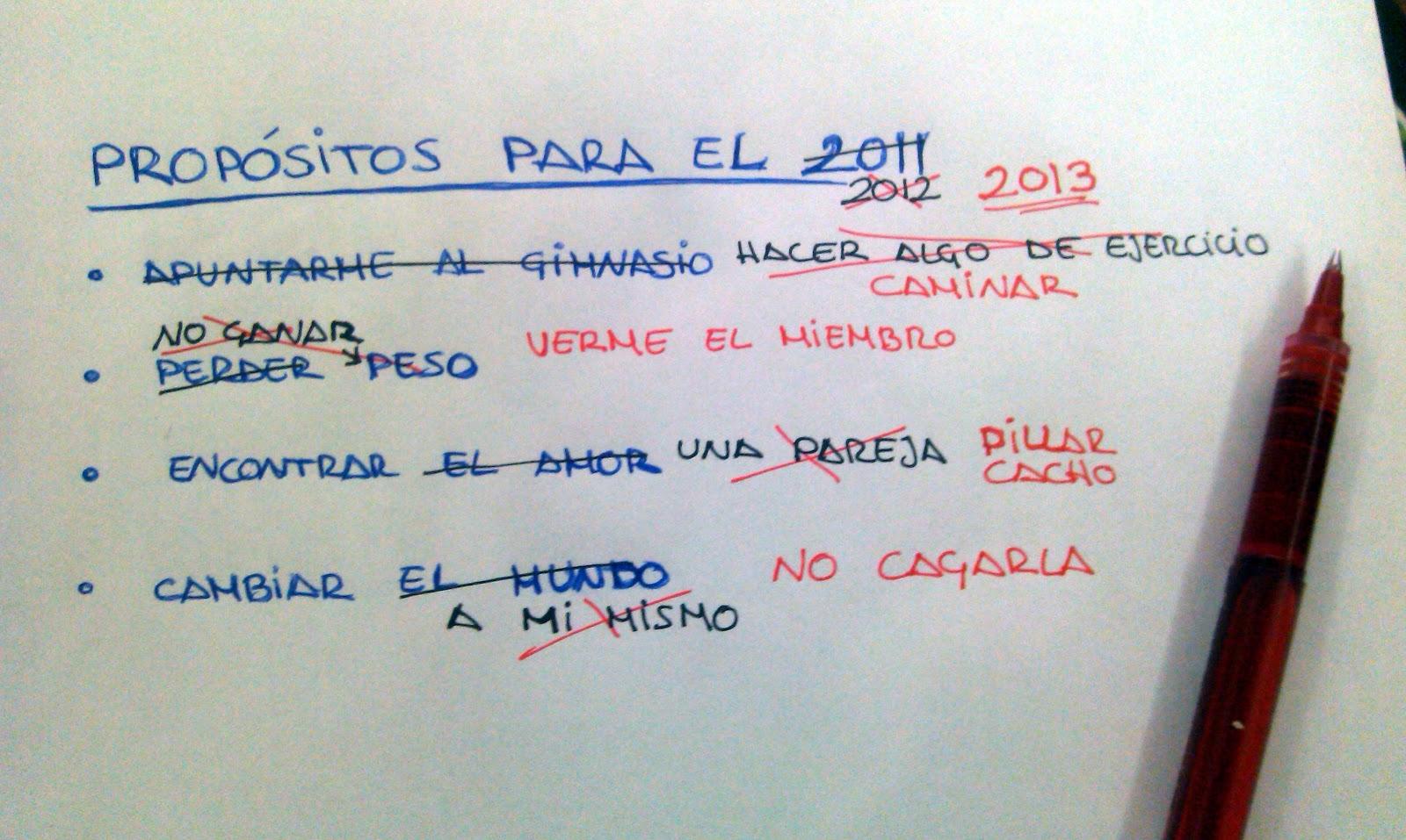 Diario de una neur tica prop sitos para el nuevo a o - Propositos de ano nuevo originales ...
