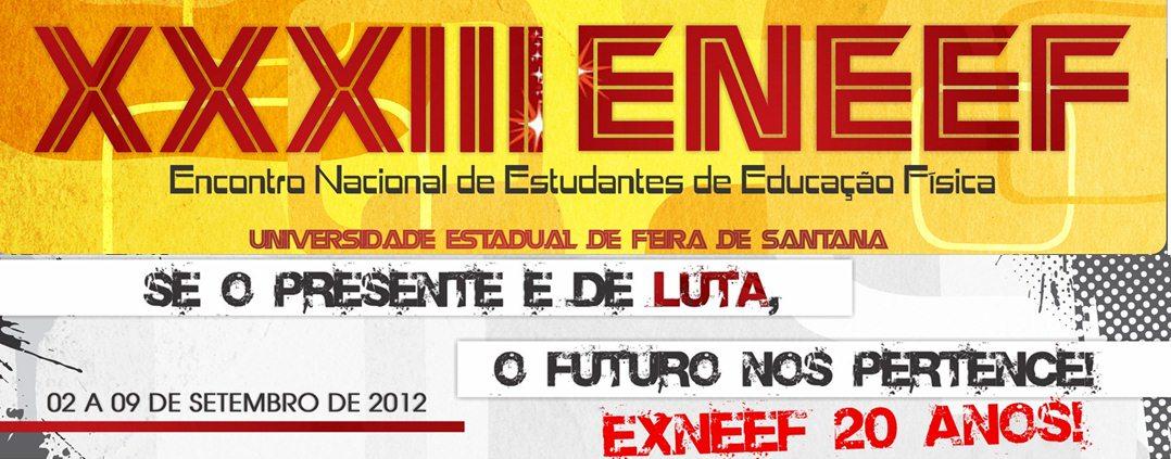 XXXIII ENEEF - UEFS 2012