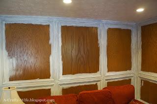 Zinsser BIN primer on judges wood paneled panelling walls   A Crafty Wife
