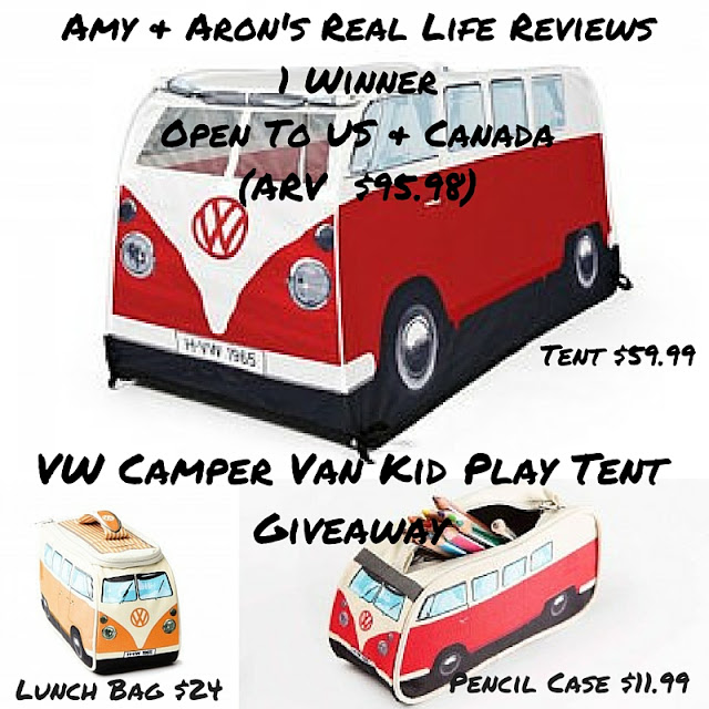Enter the VW Camper Van Kid Play Tent Giveaway #VDUBbus65. Ends 10/8