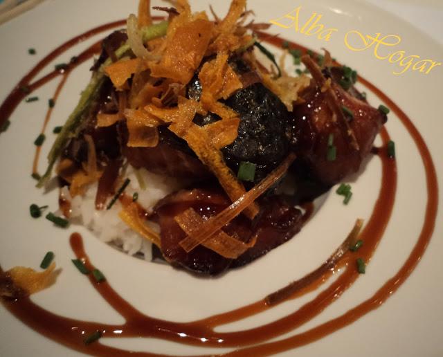 salmón teriyaki con arroz basmati alba hogar