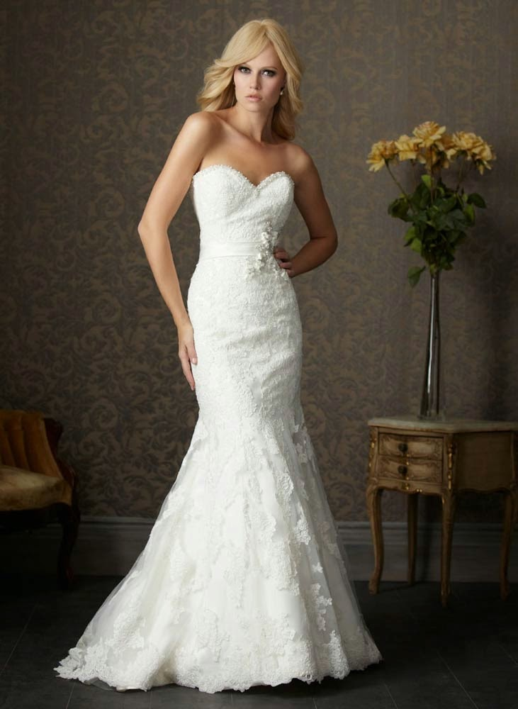 Allure White Wedding Dresses without Sleeves Utah Design pictures hd