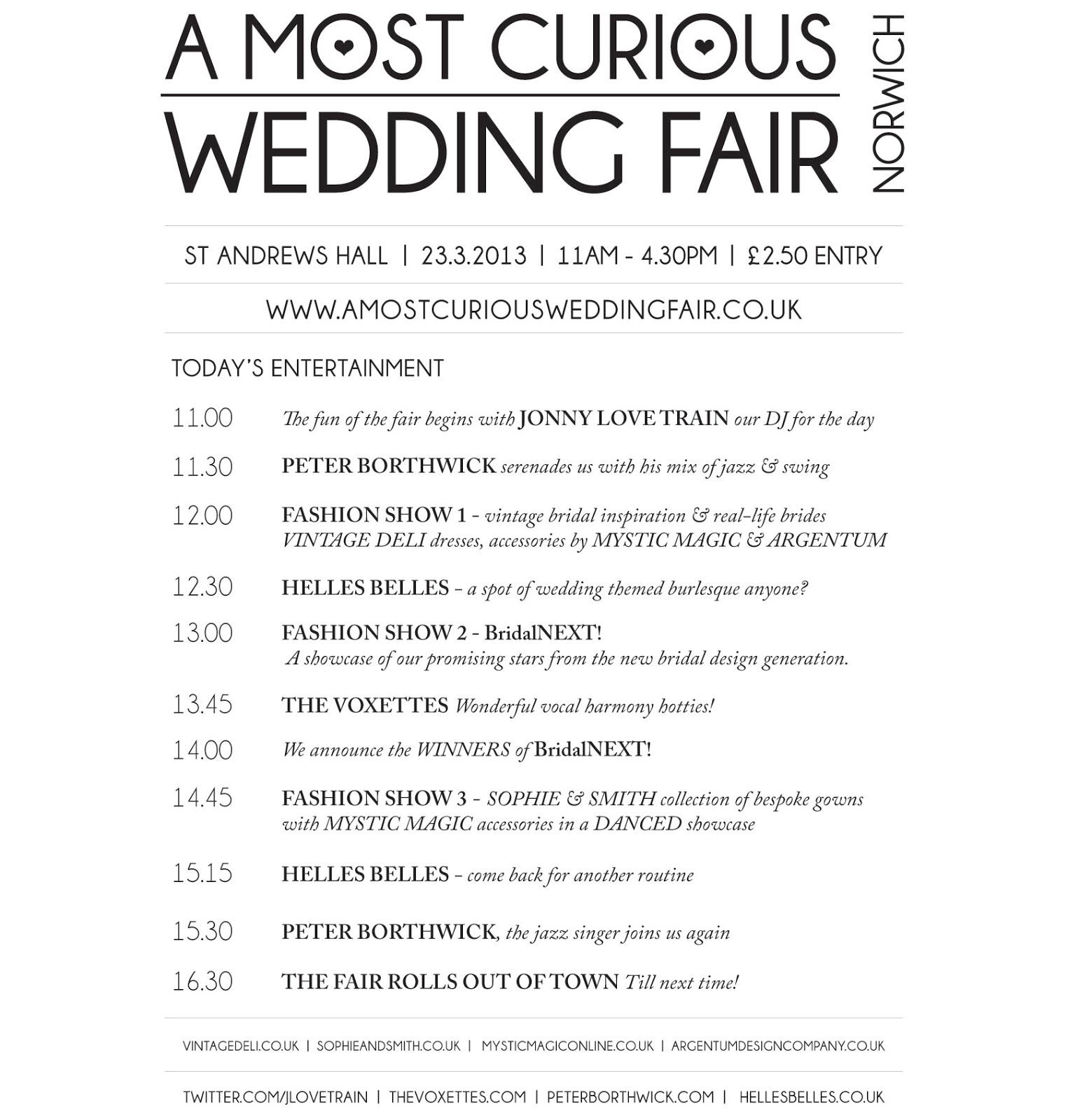 A Most Curious Wedding Fair Blog: March 2013