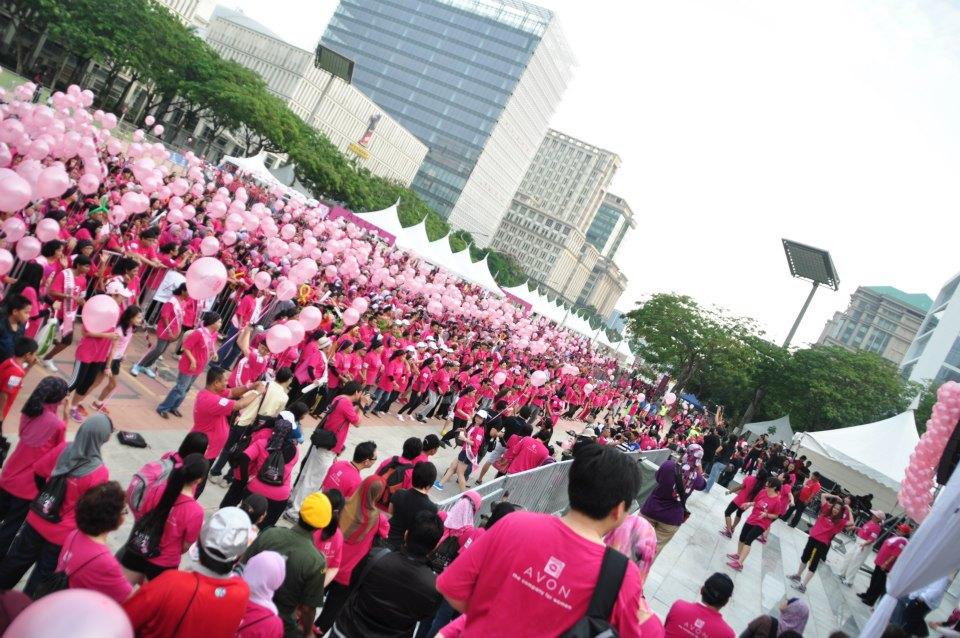 Breast cancer charity walk