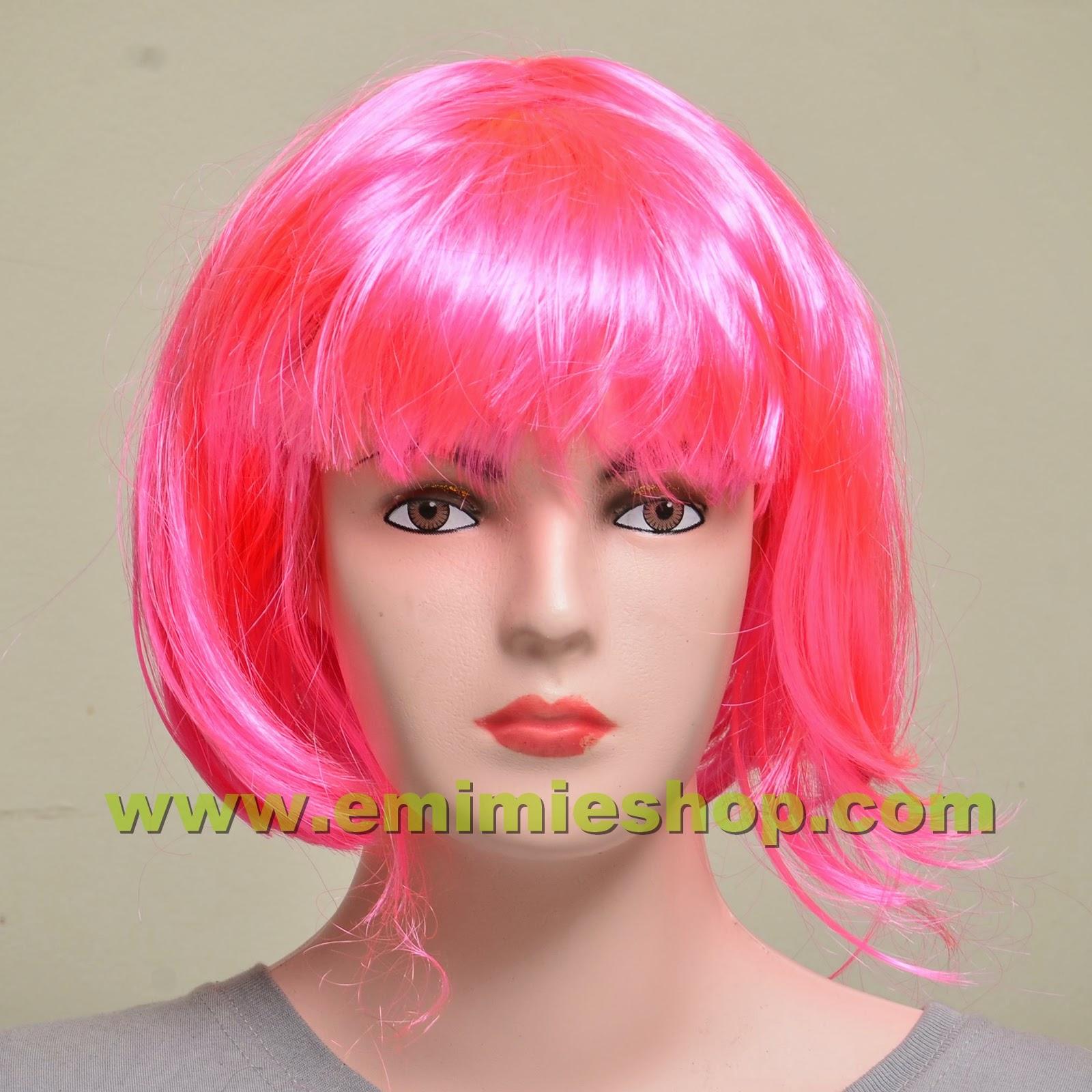 Wig Rambut Lurus Bob Warna