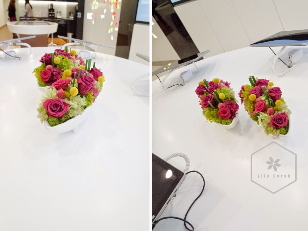 preserved flower arrangement for corporations, corporate flowers