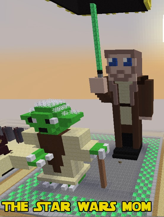 Minecraft Build -  Qui-Gon Jinn and Master Yoda of Star Wars