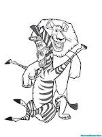 Zebra Madagaskar Dan Singa Berteman